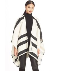 Alice + Olivia - Natural 'Kayson' Draped Poncho - Lyst