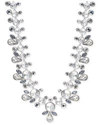 Givenchy | Metallic Silver-tone Crystal Drama Collar Necklace | Lyst