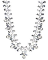 Givenchy - Metallic Silver-tone Crystal Drama Collar Necklace - Lyst