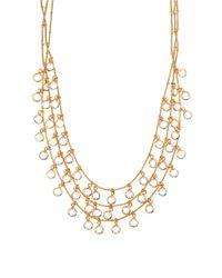 Anne Klein | Metallic Multi-row Shaky Necklace | Lyst