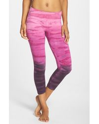 Hard Tail | Pink Tie Dye Capris | Lyst