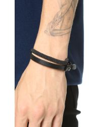Caputo & Co. | Black Hand Knotted Double Wrap Bracelet for Men | Lyst