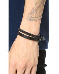 Caputo & Co. - Black Hand Knotted Double Wrap Bracelet for Men - Lyst