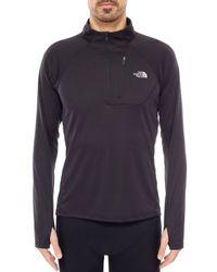The North Face - Black Impulse Active Nylon Running Sweatshirt - Lyst