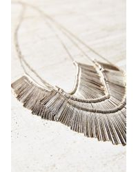 Urban Outfitters - Metallic Star Burst Statement Necklace - Lyst