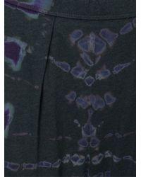 Raquel Allegra - Green Tie-Dye Cropped Cotton-Blend Pants - Lyst