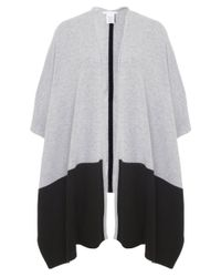 Duffy | Gray Contrast Cashmere Wrap | Lyst