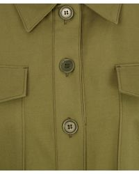 M.i.h Jeans - Green Khaki Military Style Button Down Iola Shirt Dress - Lyst