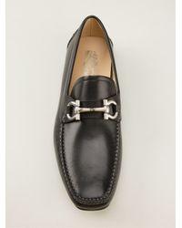 Ferragamo - Black Horse Bit Loafers for Men - Lyst
