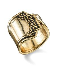Low Luv by Erin Wasson | Metallic Aztec Rolled Ring | Lyst