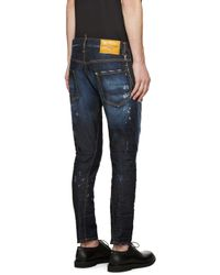 DSquared² - Blue Easy Every Day Sexy Twist Jeans for Men - Lyst