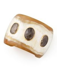 Ashley Pittman - Brown Rangi Smoky Quartz Cuff - Lyst