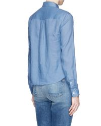 Theory - Blue 'tianmer' Ramie Shirt - Lyst