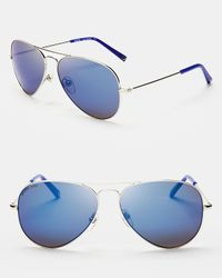 Michael Kors | Metallic Dylan Aviator Sunglasses | Lyst