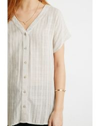 Forever 21 | Natural Contemporary Tonal-patterned Dolman Top | Lyst