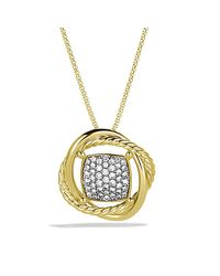 David Yurman - Metallic Infinity Cushion Pendant Necklace With Diamonds In Gold - Lyst