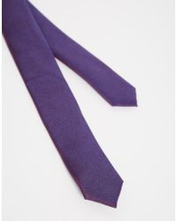 ASOS - Purple Tonic Tie And Pocket Square Set - 18% for Men - Lyst