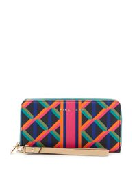 Trina Turk - Multicolor Zip Around Wallet - Lyst