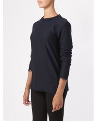 Faliero Sarti | Blue Raw Edge Sweater | Lyst