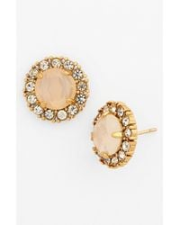 kate spade new york | Metallic 'secret Garden' Mixed Stone Stud Earrings | Lyst