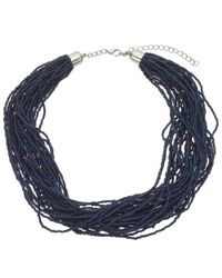 John Lewis | Blue Twisted Bead Necklace | Lyst