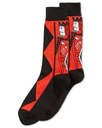 Hot Sox | Red King Of Diamonds Crew Socks for Men | Lyst