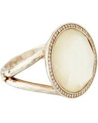 Ippolita | Metallic Silver Mother Of Pearl And Diamond Stella Lollipop Ring | Lyst