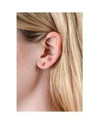 Lee Renee - Metallic Gold Vermeil Tiny 'Voodoo Damballah' Stud Earrings - Lyst