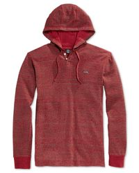Volcom | Red Payton Hooded Thermal T-shirt for Men | Lyst