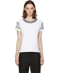KENZO - White And Black Logo T-shirt - Lyst
