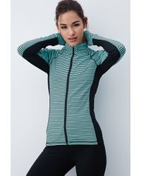 Forever 21 - Black Active Striped Athletic Jacket - Lyst
