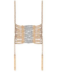 Lucky Brand | Metallic Gold-tone Beaded Pendant Necklace | Lyst