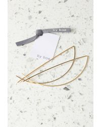 Forever 21 | Metallic By Boe Half Moon Threader Earrings | Lyst