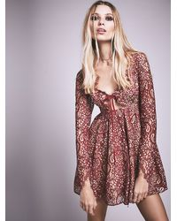 Free People - Red Charlie Mini Dress - Lyst