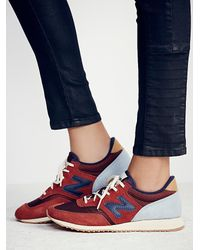 Free People - Red New Balance Womens Capsule Wood Trainer - Lyst