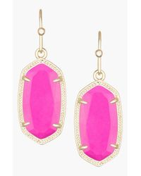 Kendra Scott | Purple 'dani' Stone Drop Earrings - Magenta | Lyst