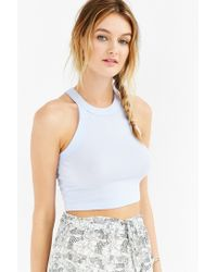 Truly Madly Deeply - Blue Fitted Cropped Tank Top - Lyst