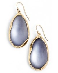 Alexis Bittar | Blue 'lucite - Liquid Metal' Oval Drop Earrings - Light Navy | Lyst