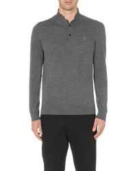 The Kooples | Gray Long-sleeved Merino Wool Jumper for Men | Lyst