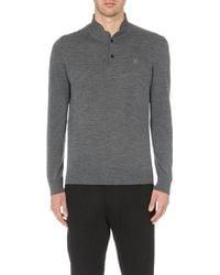 The Kooples - Gray Long-sleeved Merino Wool Jumper for Men - Lyst