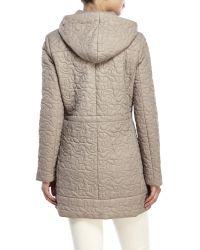 T Tahari | Natural Hooded Puffer Coat | Lyst