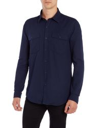 Barbour | Blue Steve Mcqueen Montana Long Sleeved Shirt for Men | Lyst