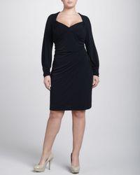 David Meister - Black Longsleeve Sweetheart Dress Womens 18w - Lyst