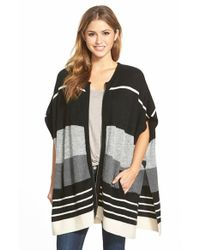 Caslon | White Zip Front Cape Style Cardigan | Lyst