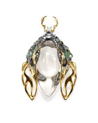 Alexis Bittar - Multicolor Lucite, Labradorite & Crystal Scarab Beetle Pin - Lyst