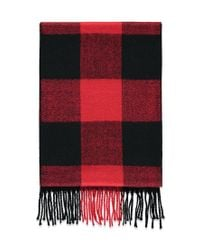 Forever 21 - Red Fringed Buffalo Plaid Scarf - Lyst