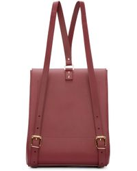 Sophie Hulme - Purple Burgundy Leather Structured Backpack - Lyst