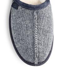 UGG - Blue Scuff Herringbone Slippers for Men - Lyst