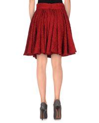 Dolce & Gabbana - Red Knee Length Skirt - Lyst