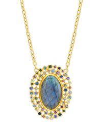 Gurhan - Yellow Confetti Labradorite Oval Pendant Necklace - Lyst